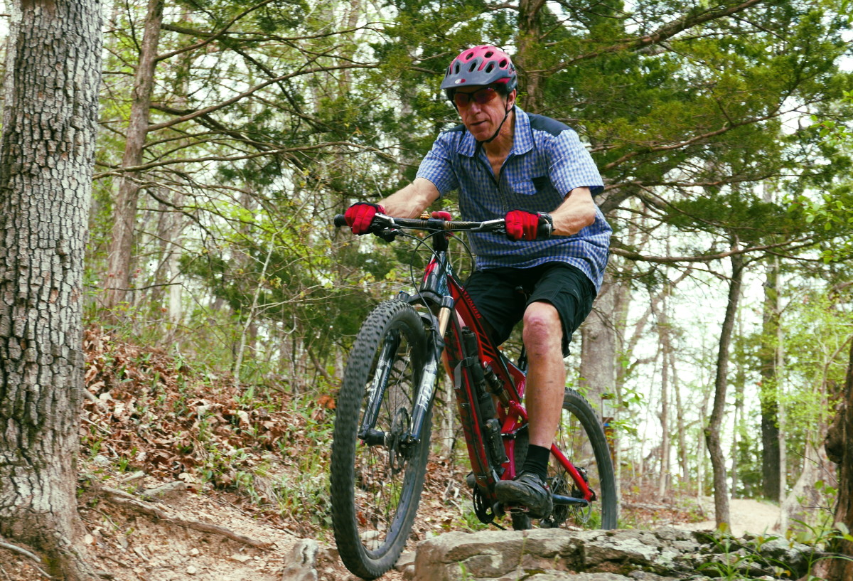 The trails at Blowing Springs twist, turn and jitter up and over features that will test your skill … and keep you smiling.