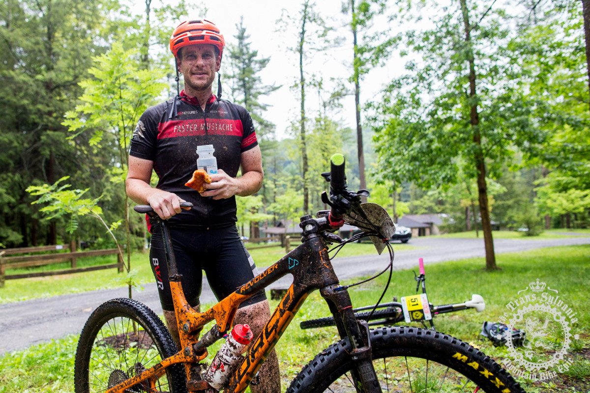 The author after a wet day of riding. Photo: Trans-Sylvania Epic Media Team