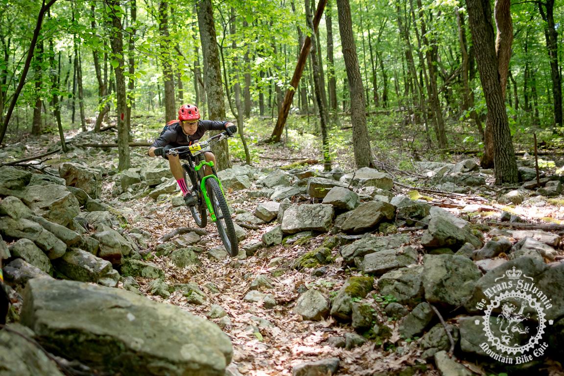 Stage winner Cody Phillips (Ibis Cycles Enduro Team). Photo: Trans-Sylvania Epic Media Team