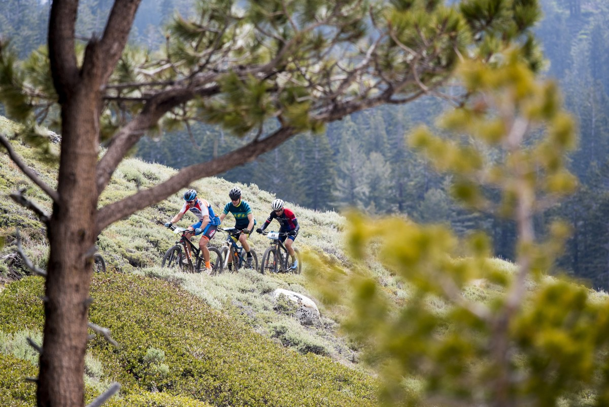 Three backcountry racers dueling it out on one of many climbs. Photo by Brian Leddy.