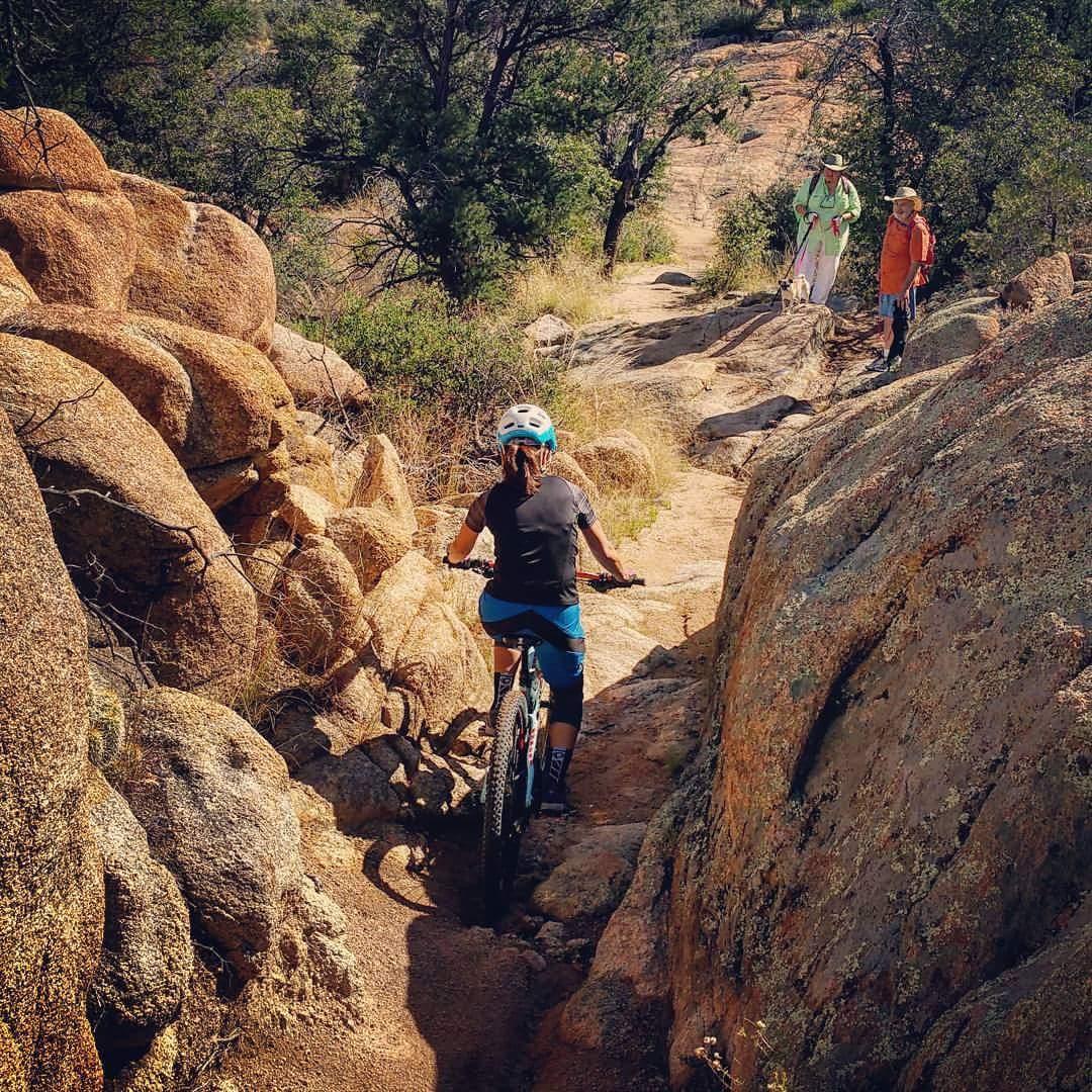 Trail congestion in Arizona. Photo: Caren Villaromen