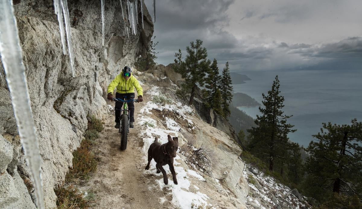 "Location: Flume Trail, Nevada From: ""Off the Beaten Path"" Rider: Anthony Cupaiuolo (and Emmie) Photographer: David Braun"