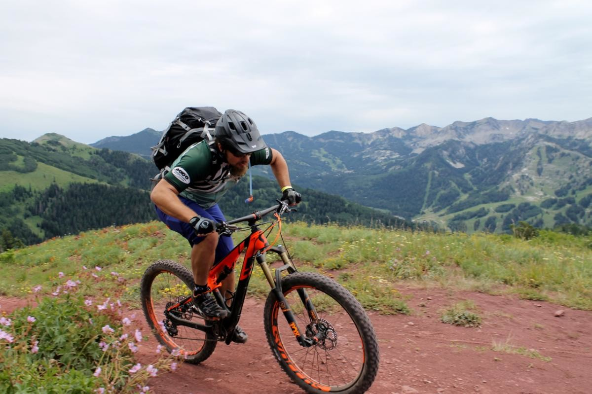 Wasatch Crest Trail. Rider: Greg Heil. Photo: Luke F.