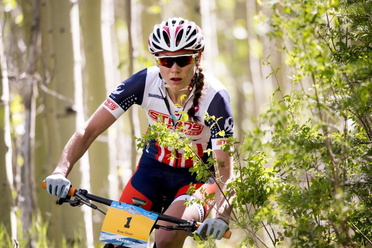 Current USA Marathon National Champion Rose Grant trailed Katerina Nash at the Spooner Lake trail.