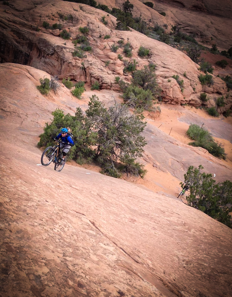 Nowhere on earth can you test the limits of your bike's traction and the ability to function anaerobically than on the Slickrock punchy climbs