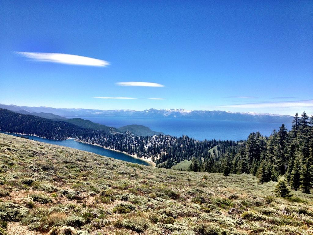 One of the bike legal views on the Tahoe Rim. Why are we the only ones who can't do the whole thing? Photo: Greg Heil