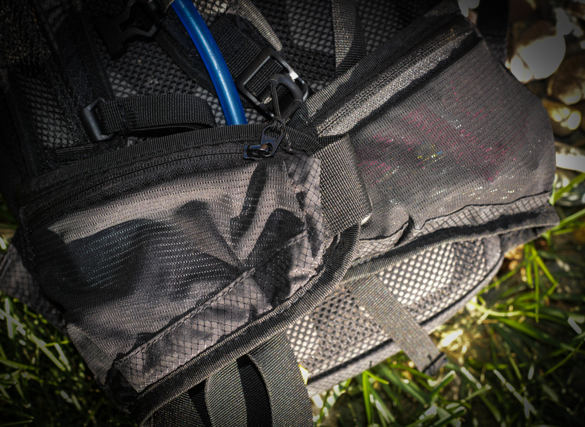 The side mesh pockets are well thought out, stretchy, and hold a lot of items you might need to grab quick-like on the trail