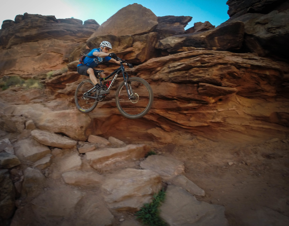 Will showing us how it's done at bottom of Ahab...and on a 29er. Can you believe that??