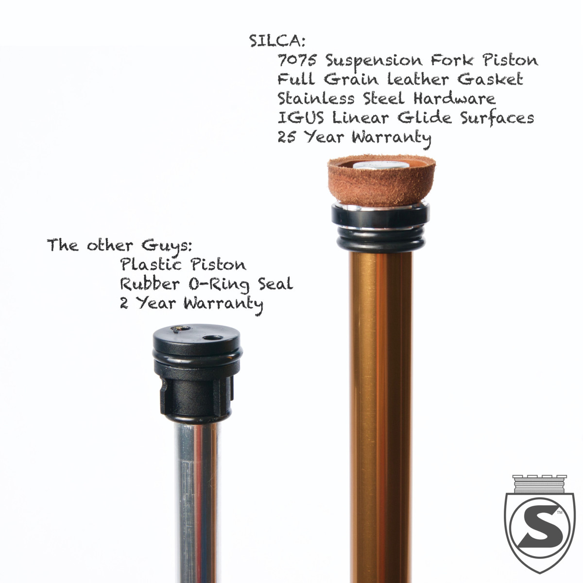 The quality is clear from the small details. These pump parts are made to perform and last