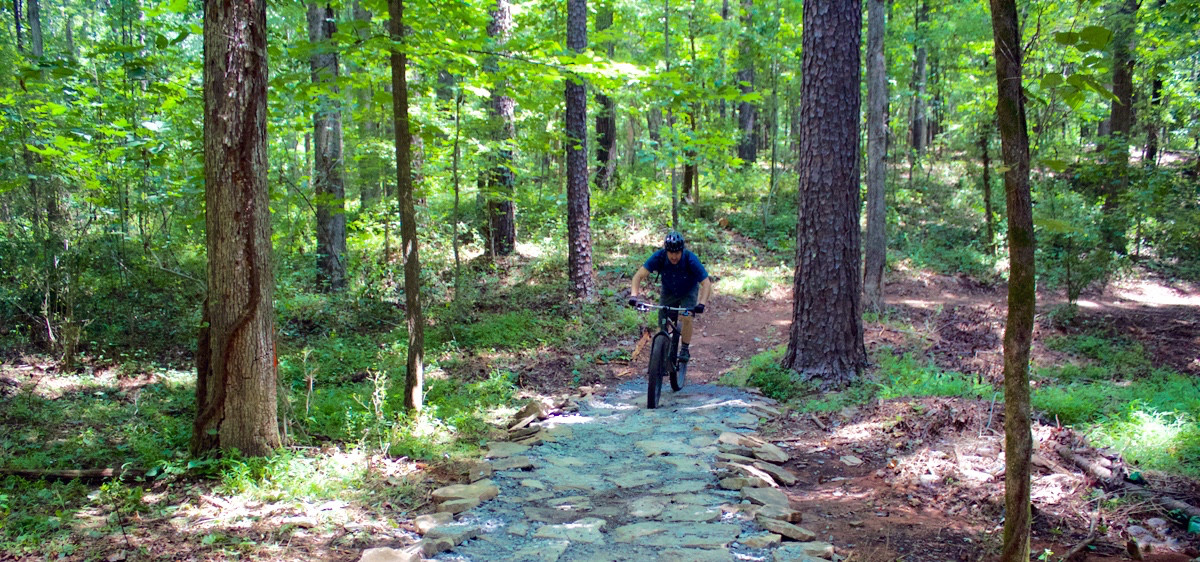 Brett Davidson takes me on a tour of virtually virgin trail at Southside Sports Complex.