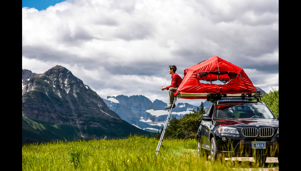 The new SkyRise rooftop tent from Yakima (all images courtesy of Yakima)