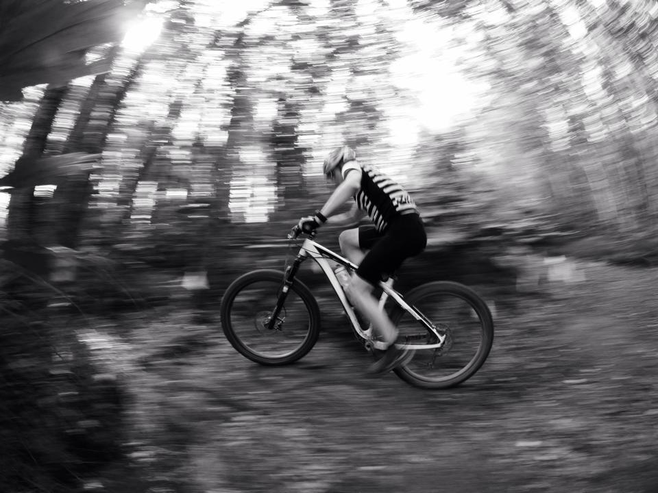 Sprinting through the woods. Photo Credit : Ryan Greef, Instagram - @akgreef