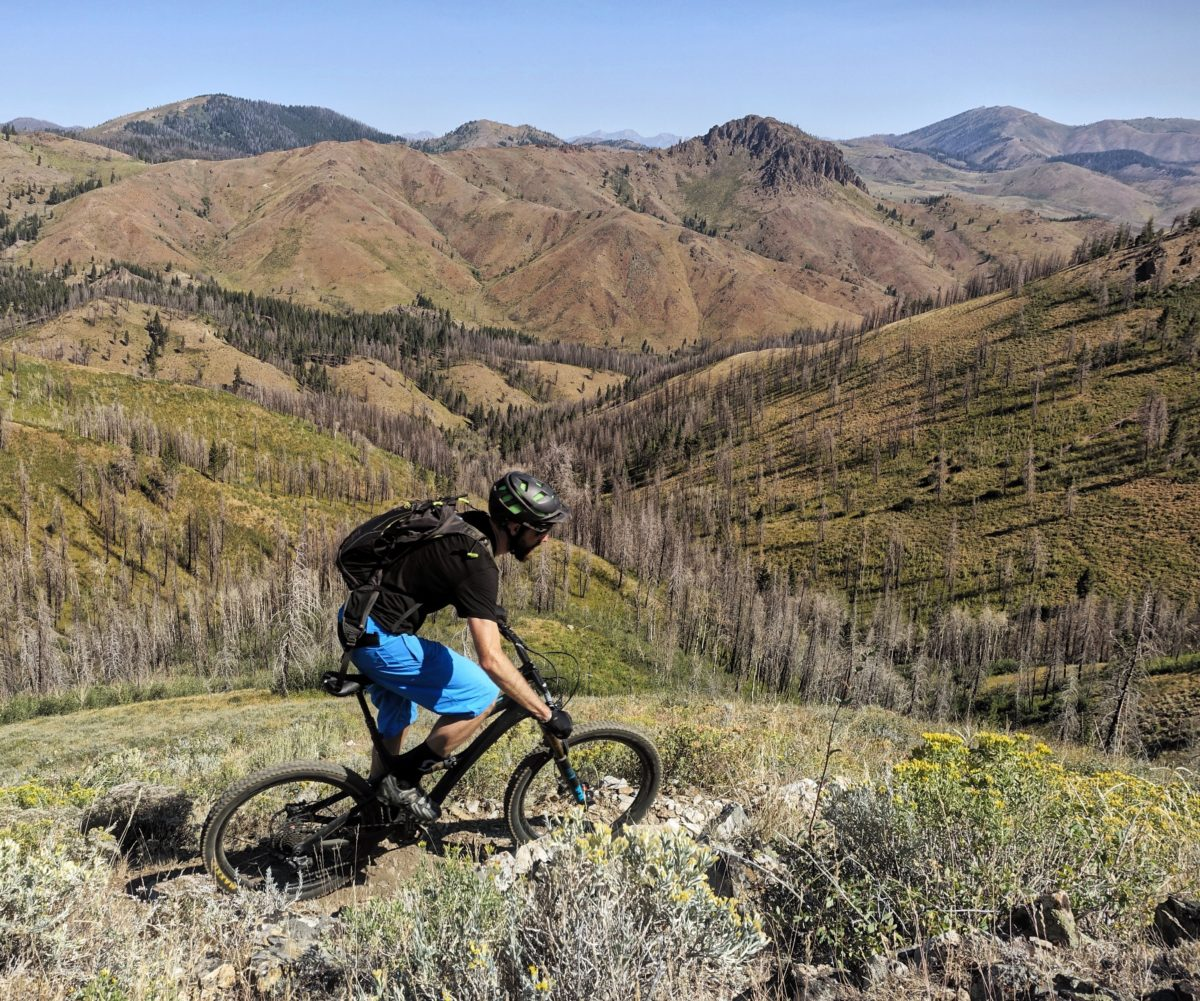 Riding the Imperial Gulch trail. Rider: Ray Gadd.