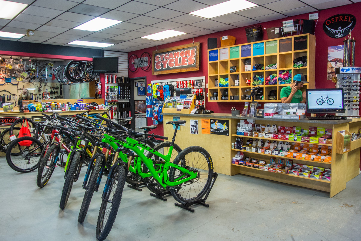 Sycamore stocks mountain bikes from Specialized, Trek, and Yeti