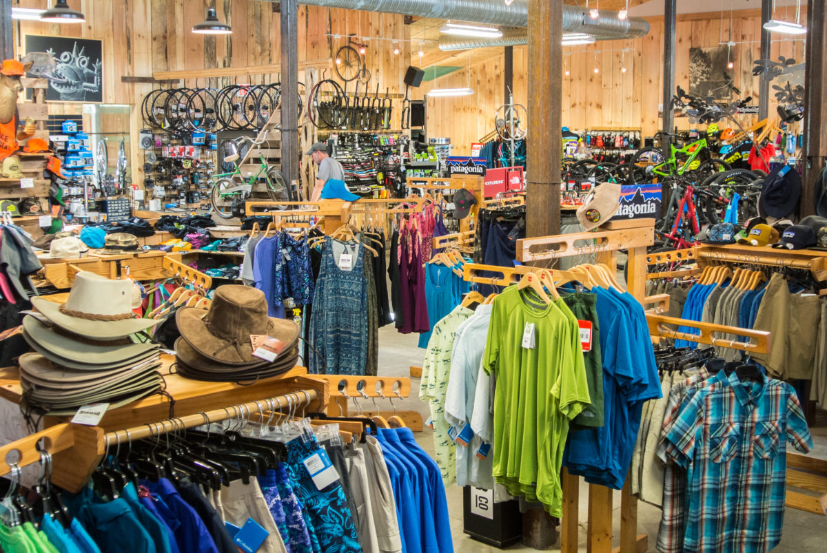 The Hub still carries a variety of outdoor gear in addition to bikes and components (photo: Aaron Chamberlain)