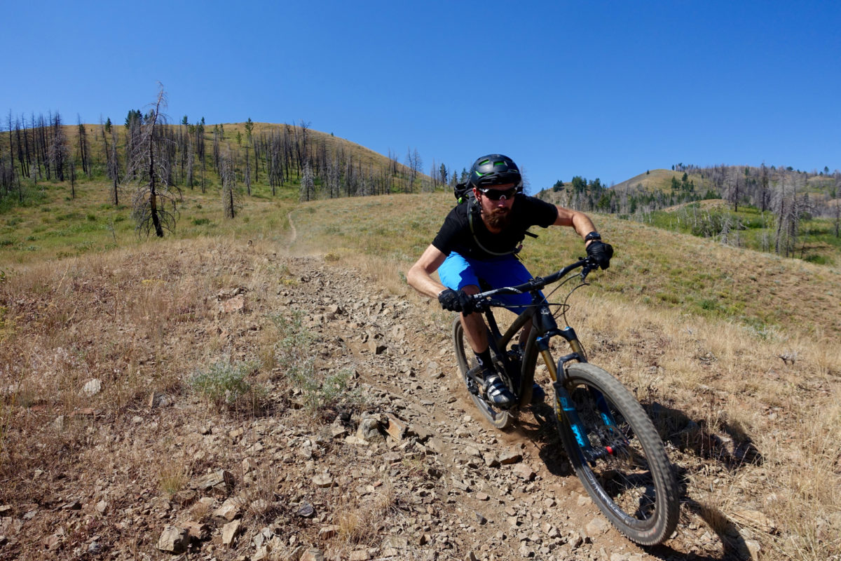 High speed descending on Imperial Gulch. Rider: Ray Gadd