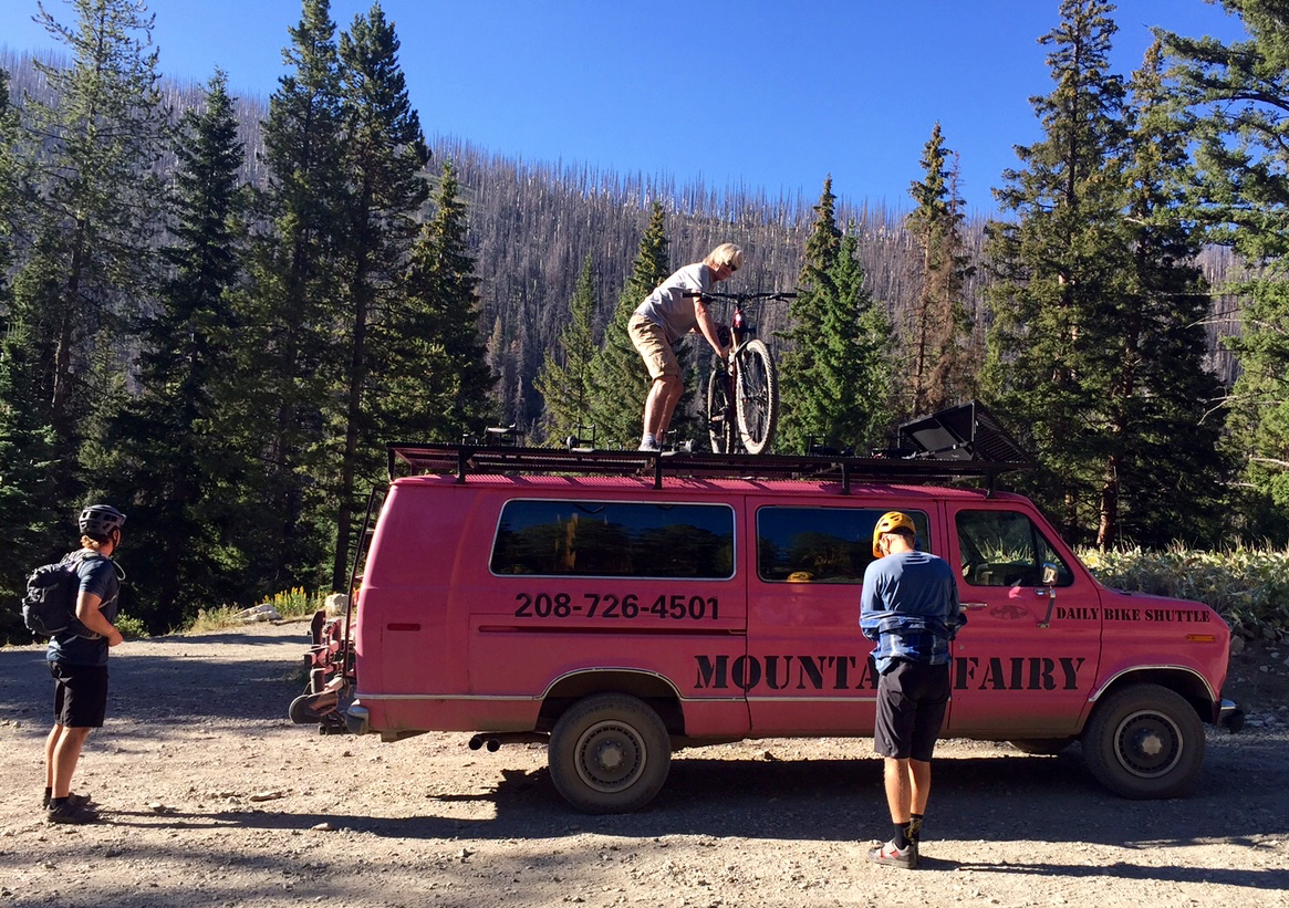 Unloading the Mountain Fairy at the trailhead. Photo: Ray Gadd