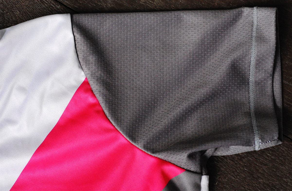 The sleeves and entire back of the Apex Jersey are made of this cool mesh material.