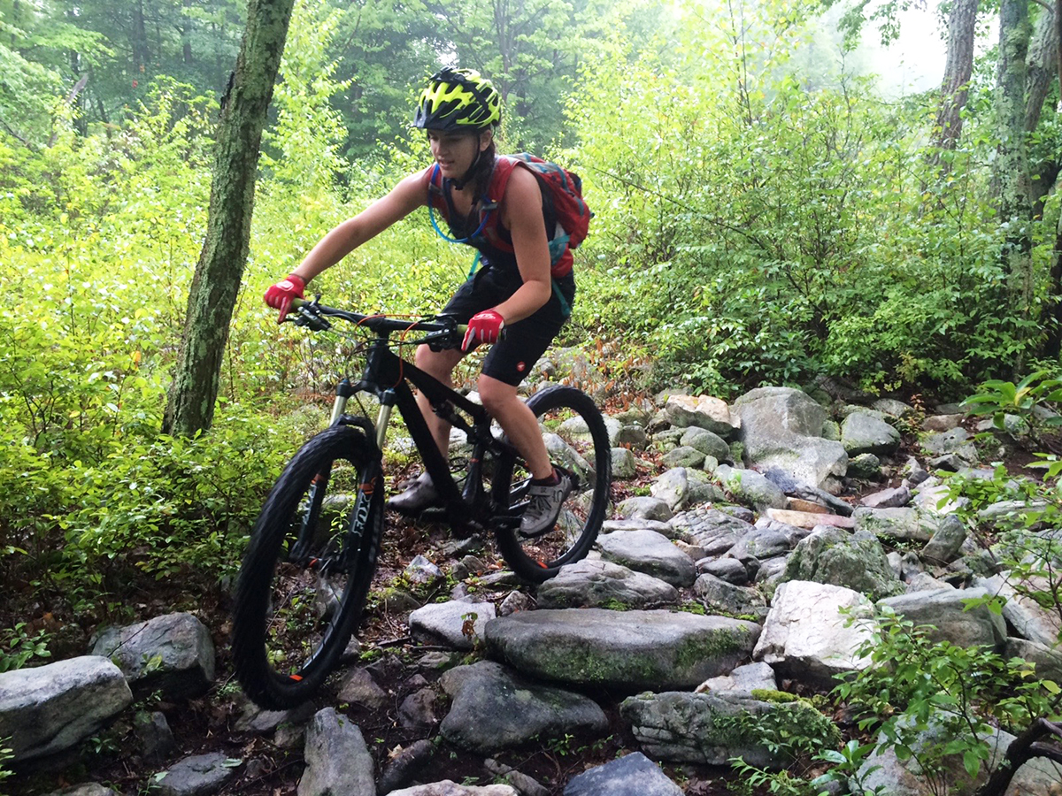 The women's Pactimo Apex MTB Shorts in action. Photo: Steve Mongold.