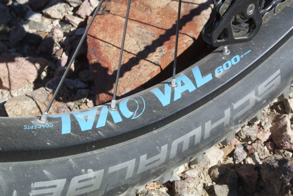 Fuji's Oval brand wheels with Schwalbe Nobby Nic tires (photo: Aaron Chamberlain)