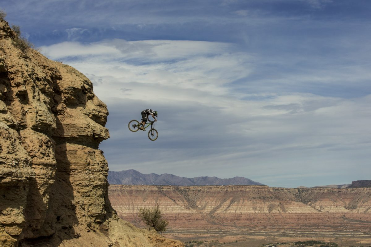 Graham Agassiz at the Red Bull Rampage. Photo: Christian Pondella / Red Bull Content Pool