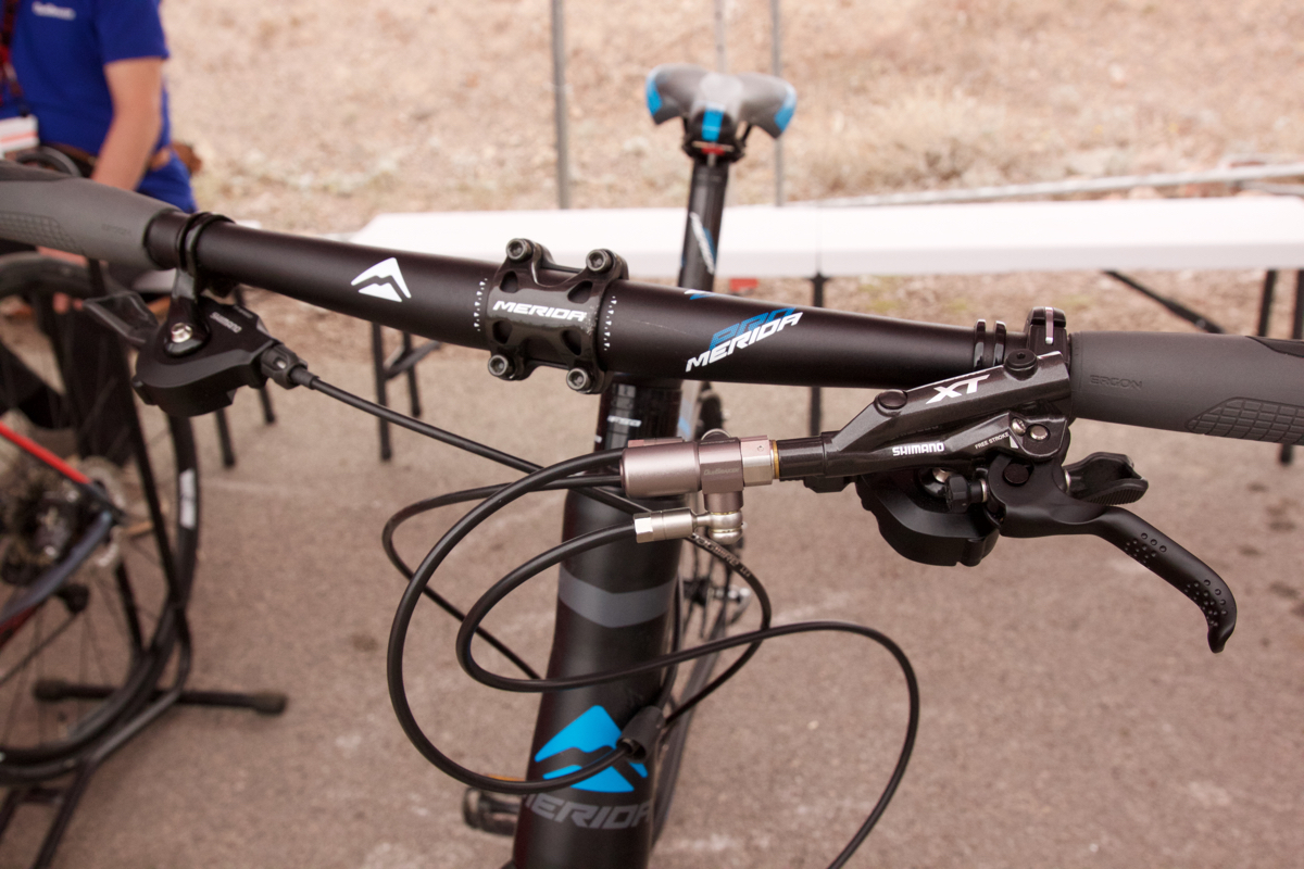 Hydraulic Lever Lock Brake Control : Outbraker converts hydraulic disc brakes to single lever