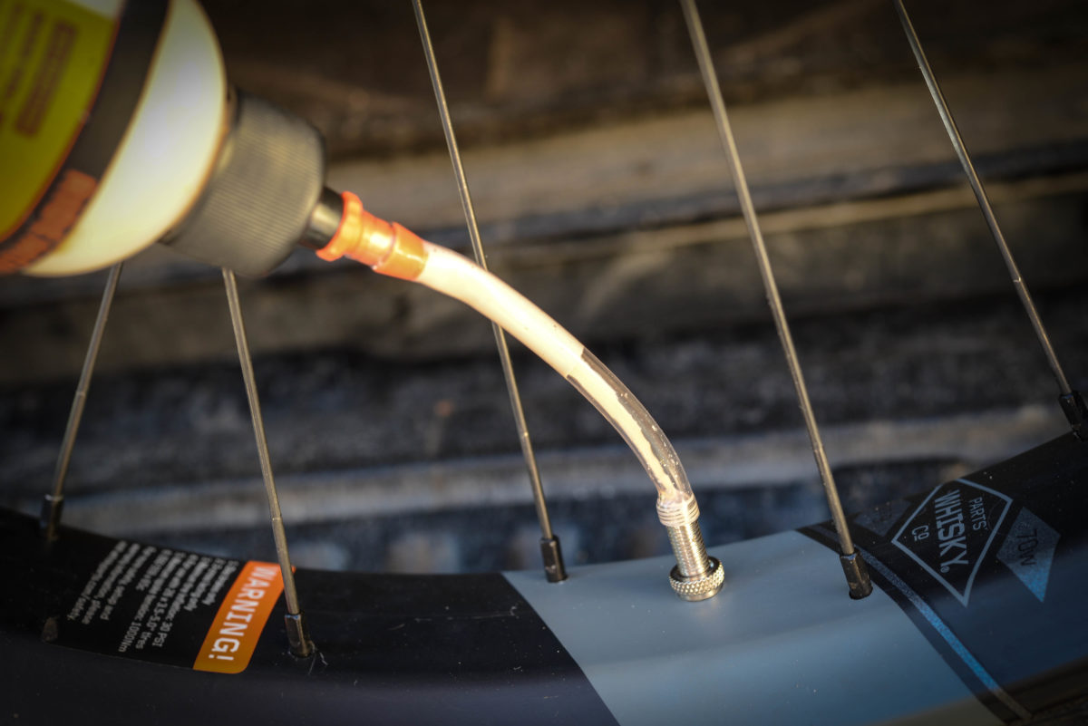 Adding more Orange Seal is easy if you have a removable valve stem core and the Injector Kit
