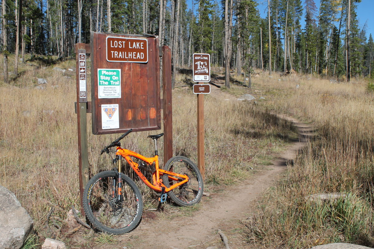 The western Lost Lake trailhead; much easier to find than the eastern end