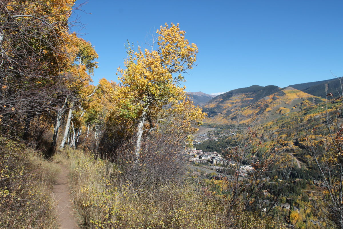 Heading back toward the village on the North Vail trail provides a nice finish to an epic loop