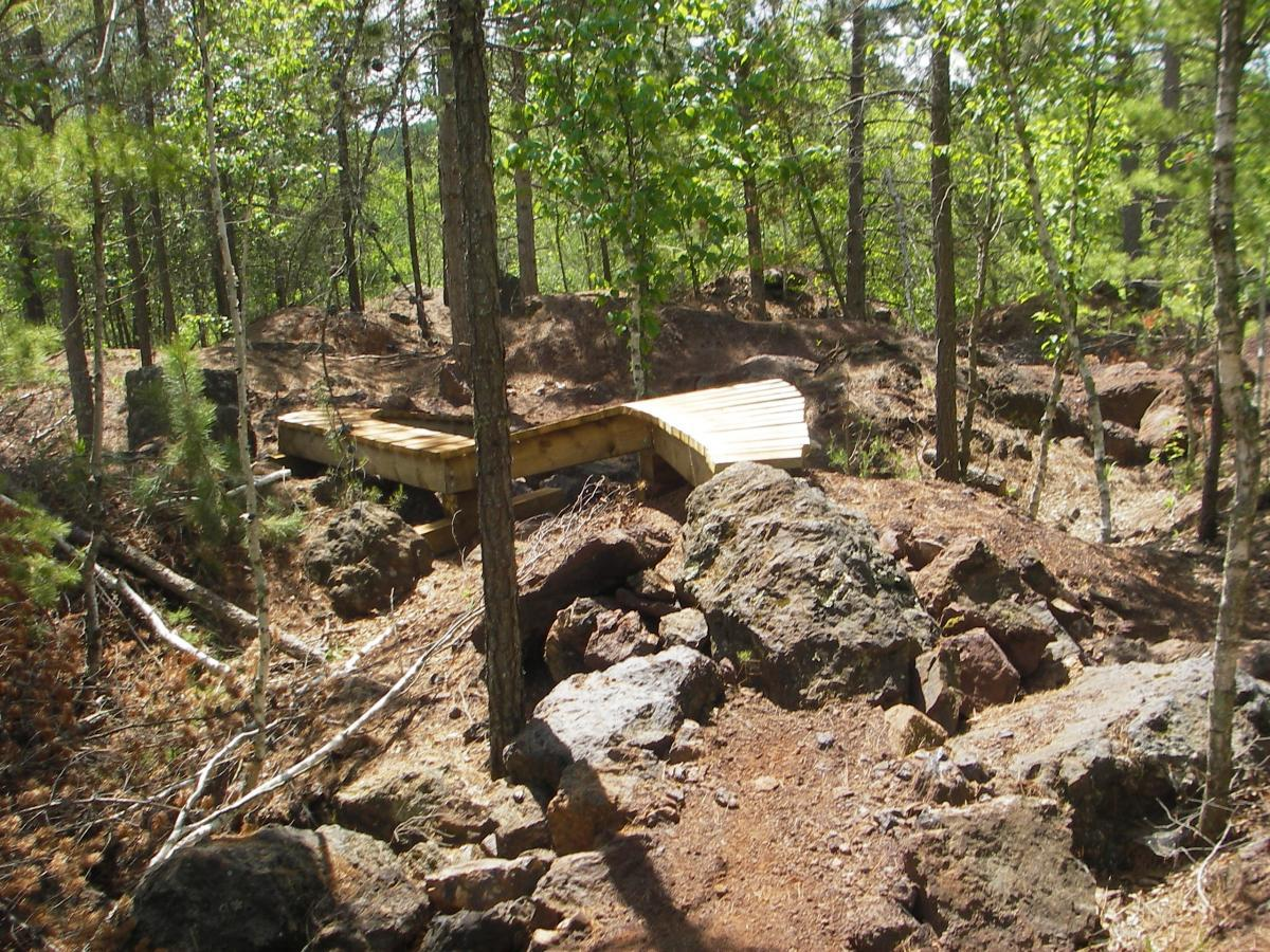 Mine tailings, like those at Cuyuna Lakes, often make entertaining terrain for mountain biking. photo: RoadWarrior