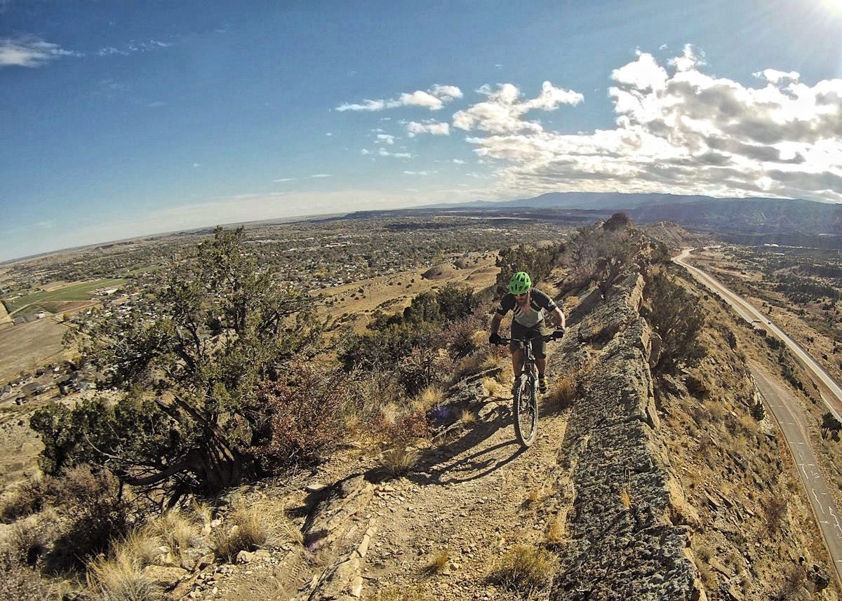 Riding the new Dakota Ridge Trail in Canon City was within my control... at least, mostly. Photo: Marcel Slootheer