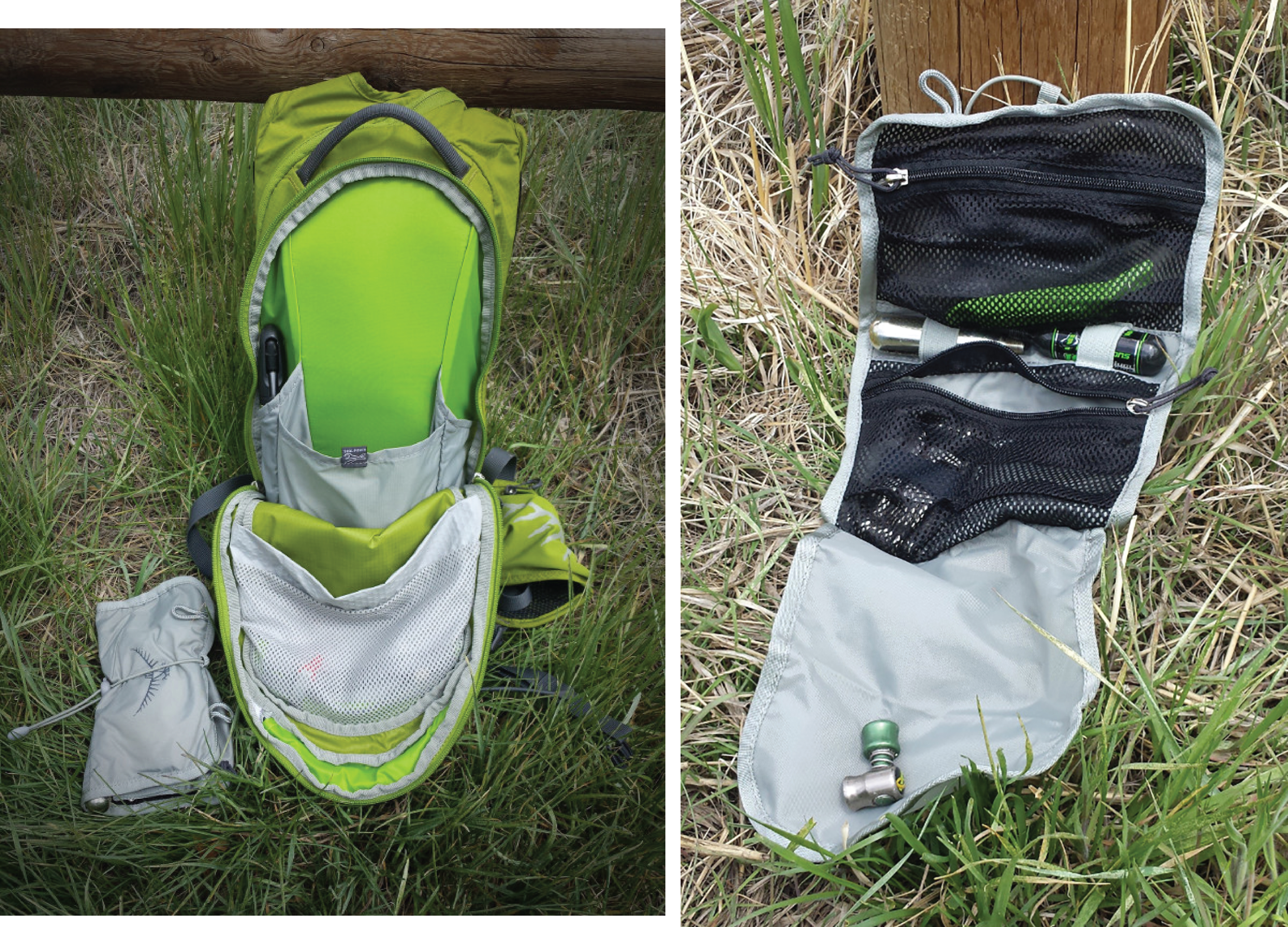 Many hydration packs include small pockets for organization, and some come with a tool roll. Photos: Corey Maddocks
