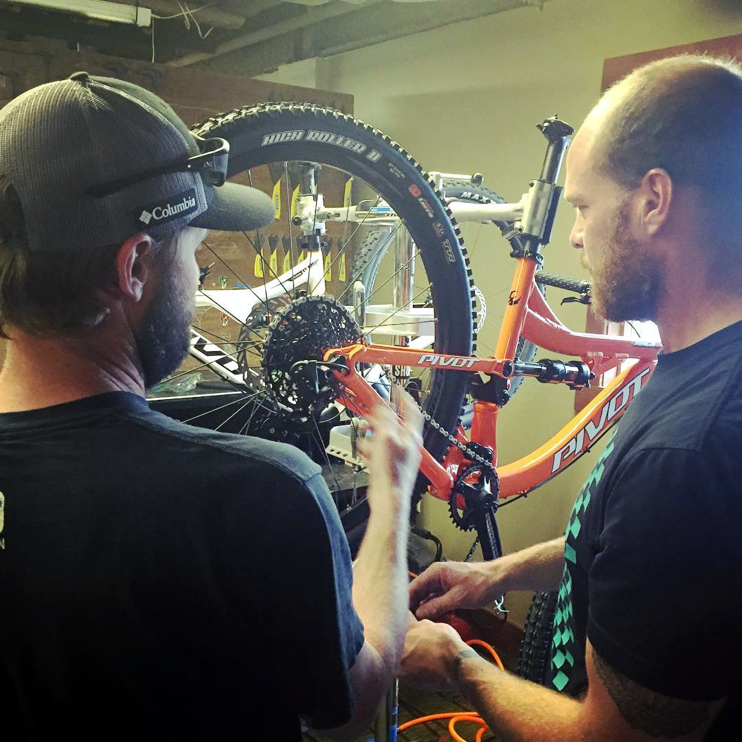 Getting the 411 from the shop tech. Photo Credit: @granbyranch via Instagram