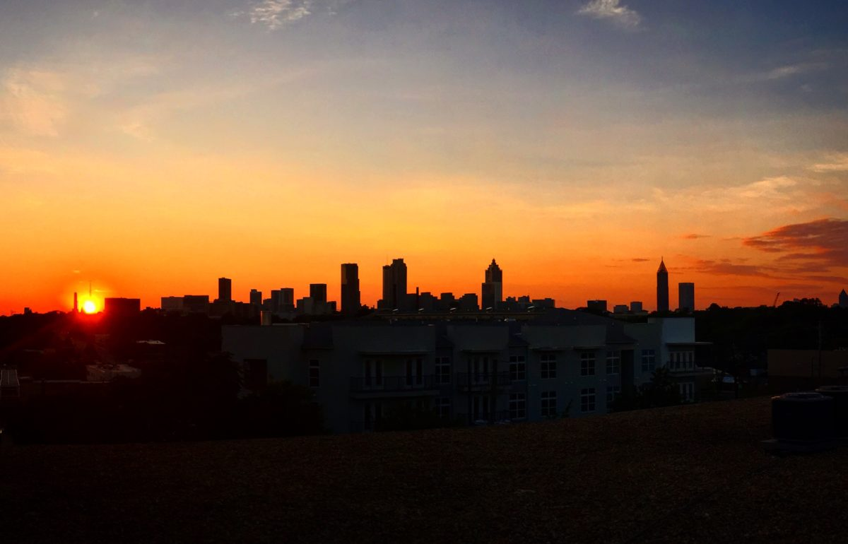 The Atlanta skyline