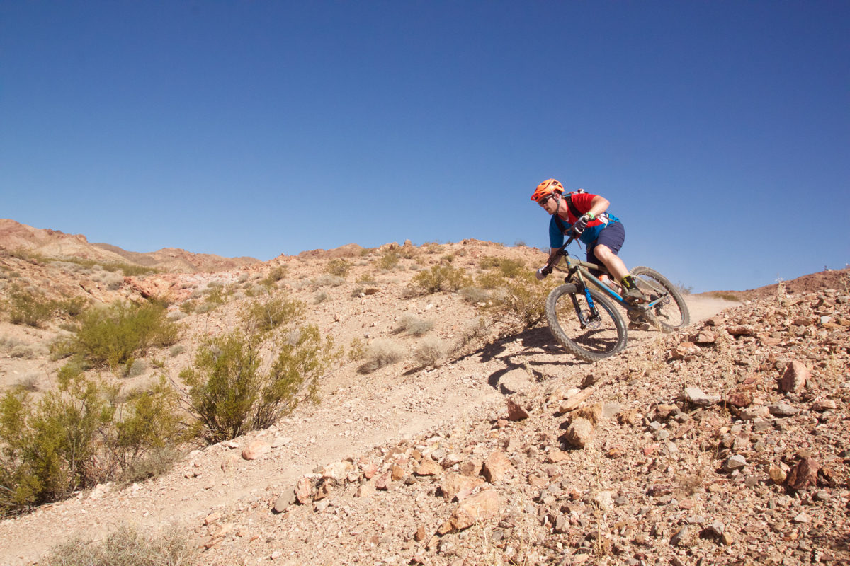 Testing bikes at Bootleg Canyon