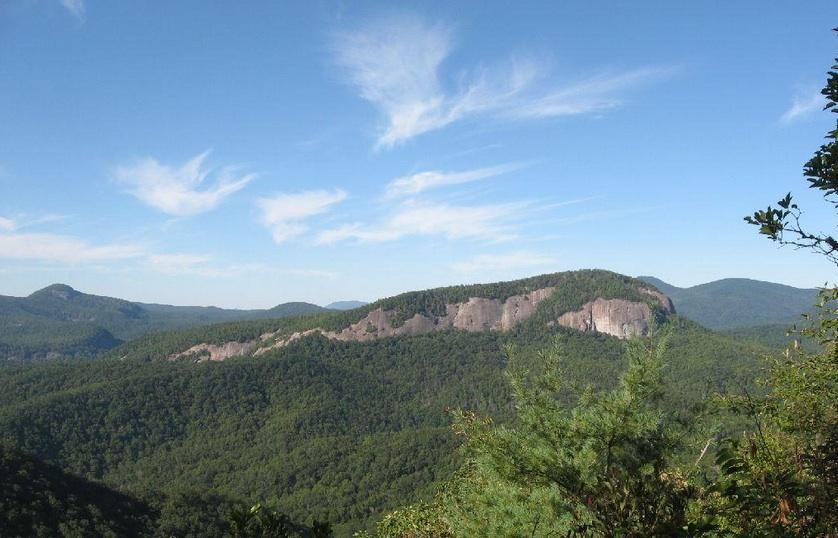 View of Looking Glass Rock from the Bennett Creek trail. Photo: Greg Heil