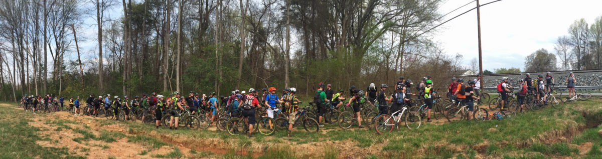 Nothing like rolling around the city with 150 other mountain bikers