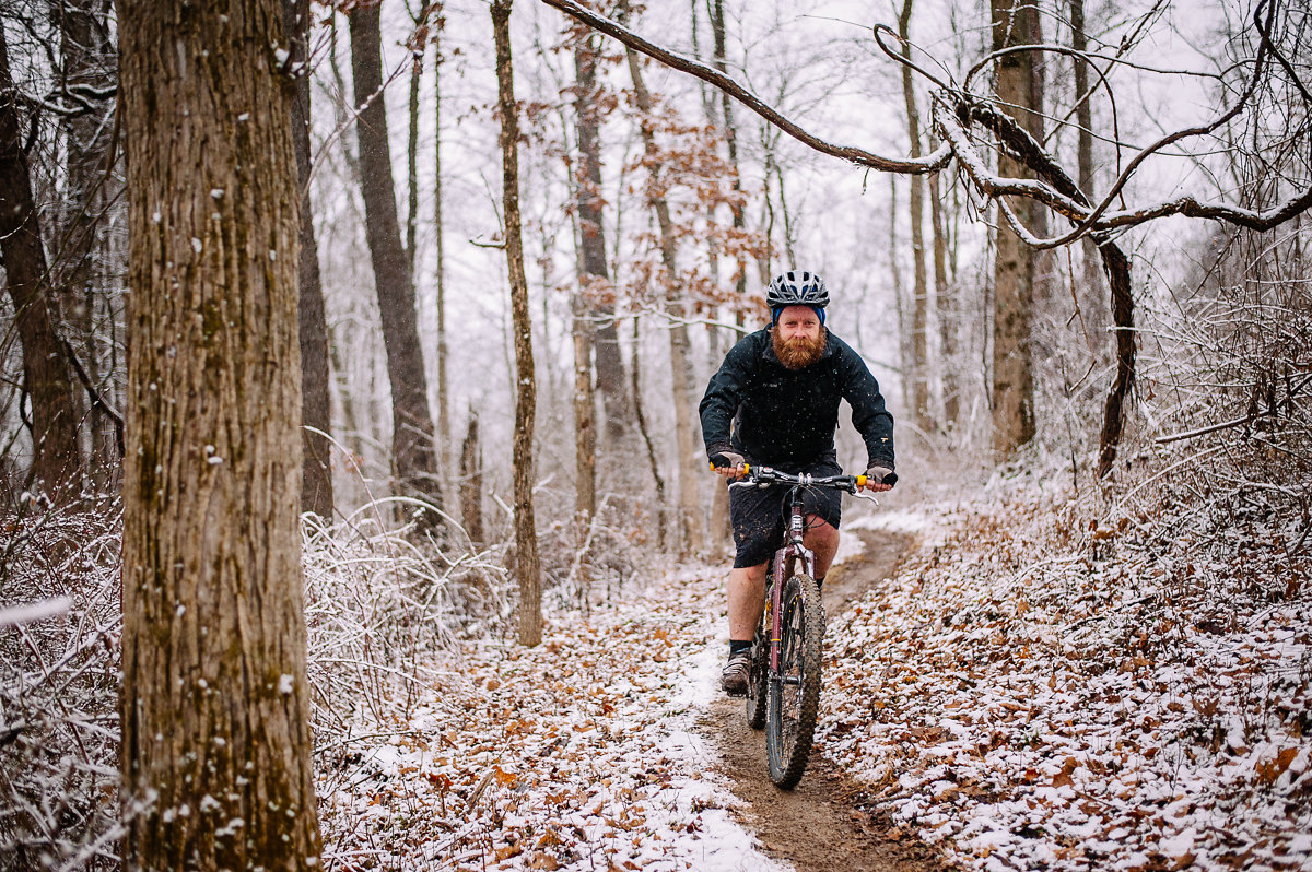 No fat tires needed! Or pants, apparently. Photo: Sarah Anne Wharton