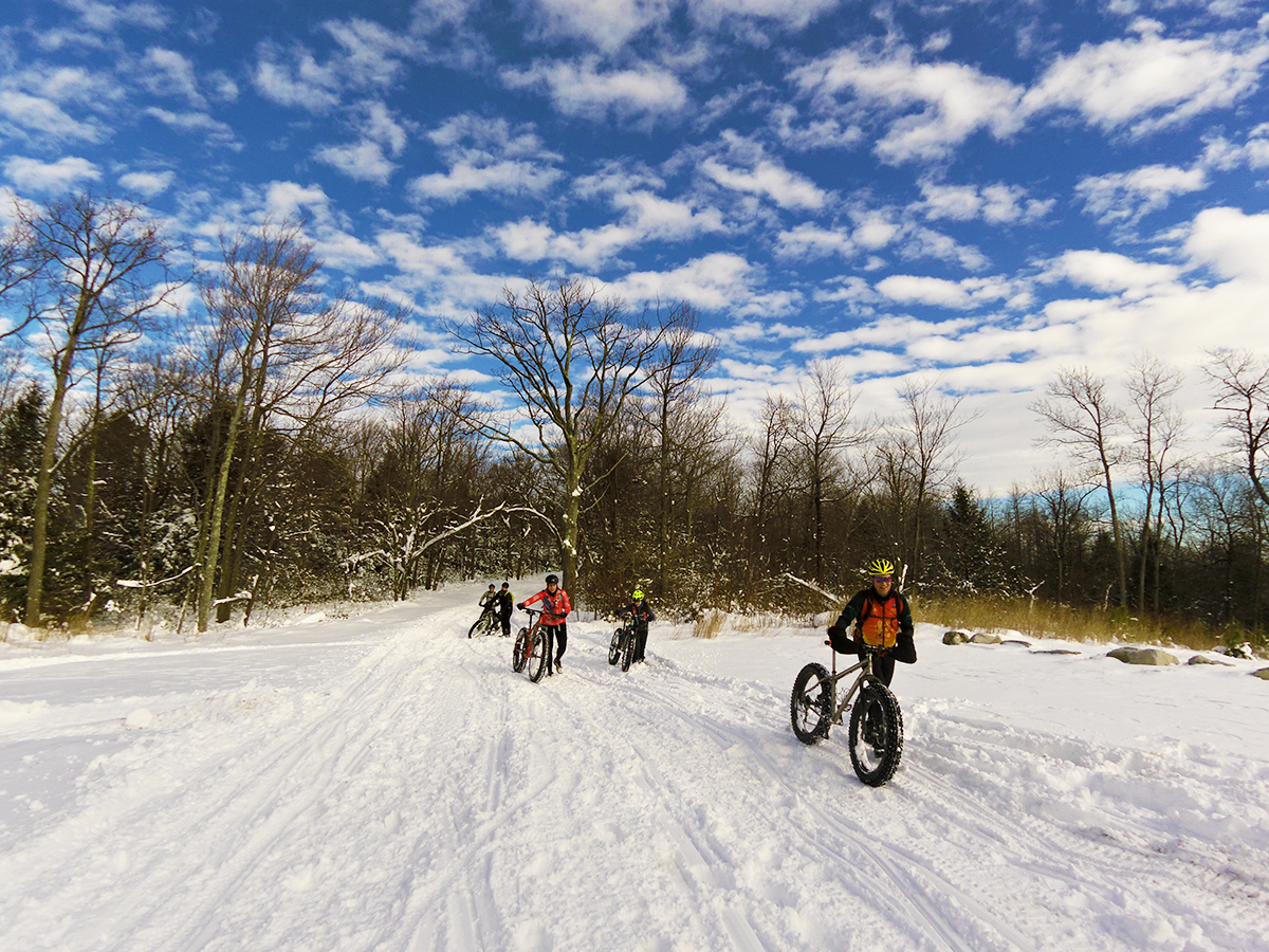 A hike-a-bike through powder will make you strong! Photo: Evan Gross