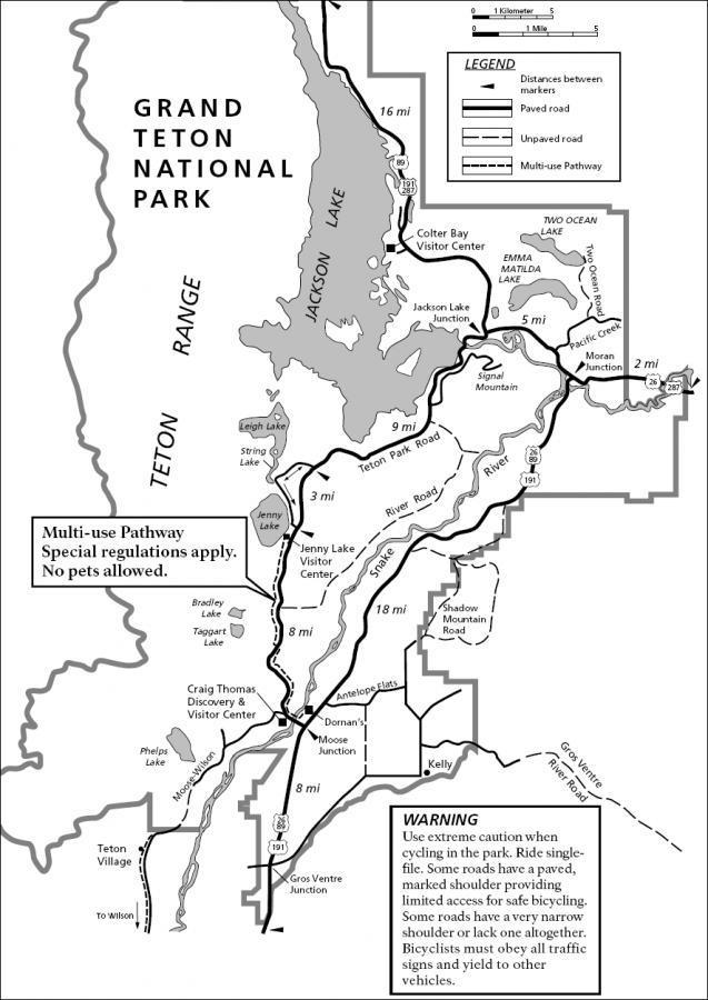 Grand Teton Multi-use Pathway Mountain Bike Trail in Grand Teton ...