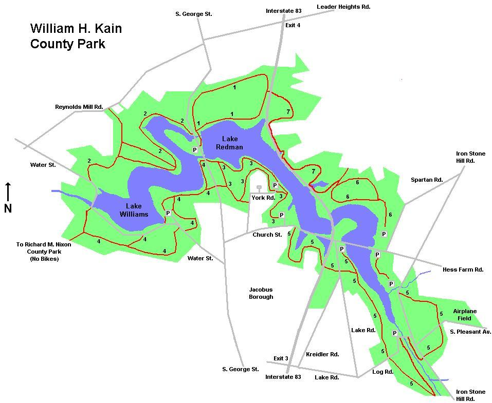 Lake Redman/williams Mountain Bike Trail in York ...