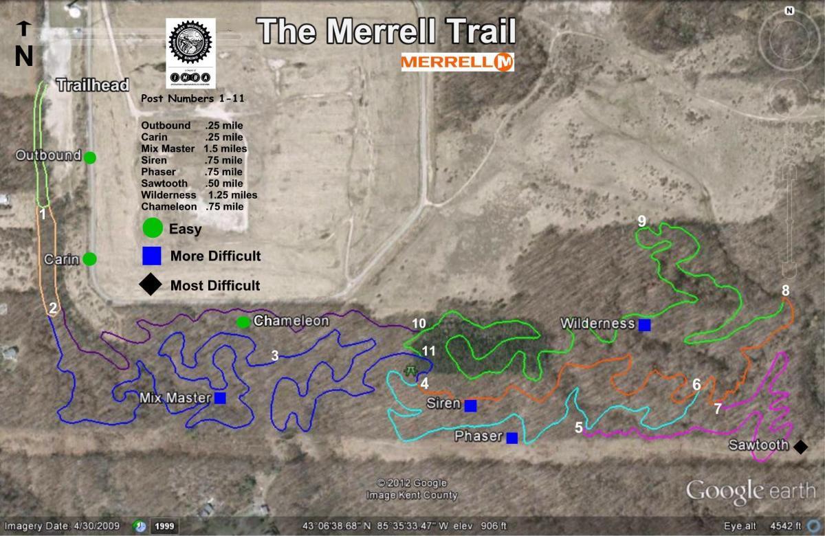 Merrell Trail Mountain Bike Trail In Rockford Michigan