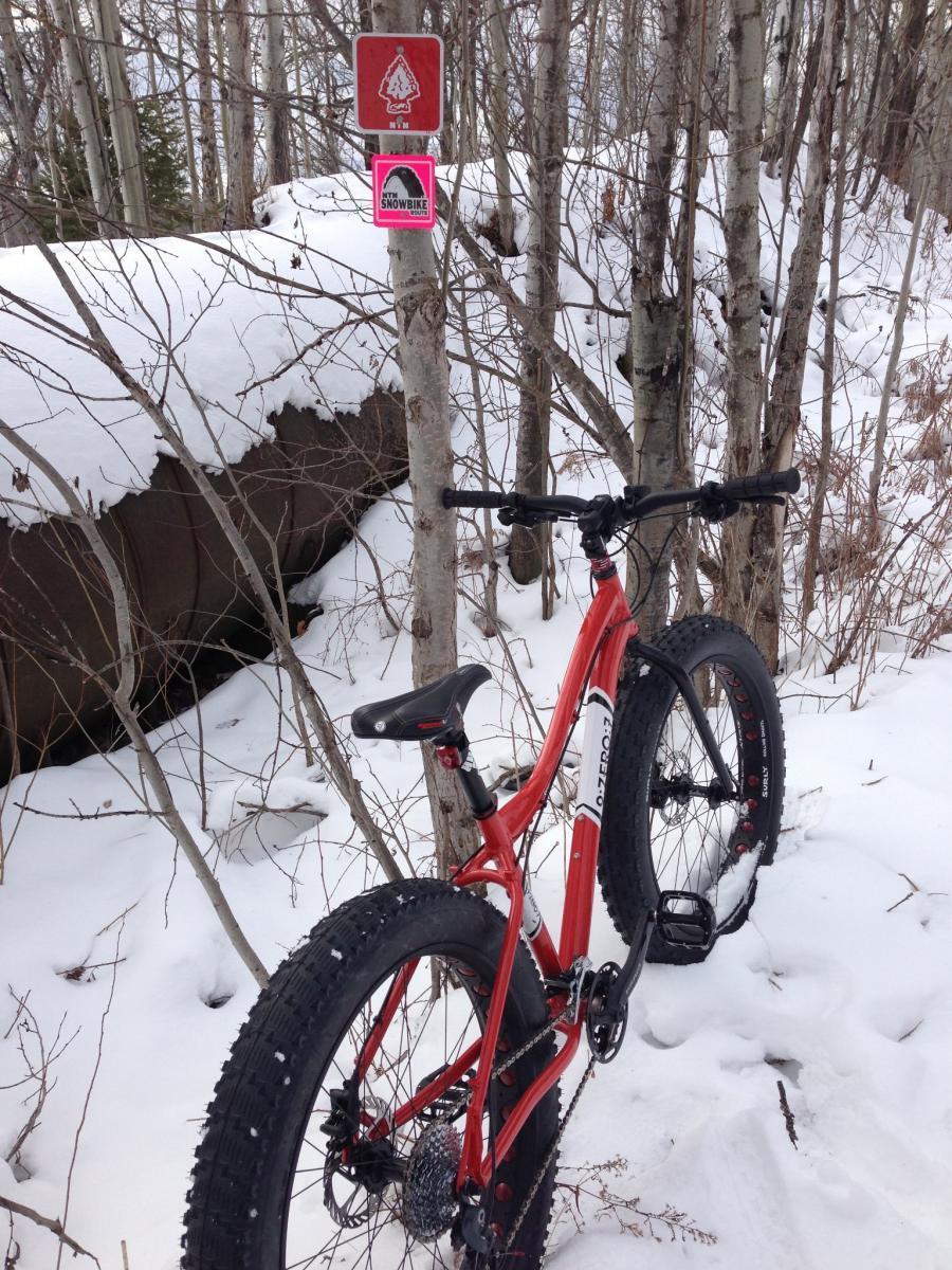 Marquette Sbr Snow Bike Route North Plus South Mountain