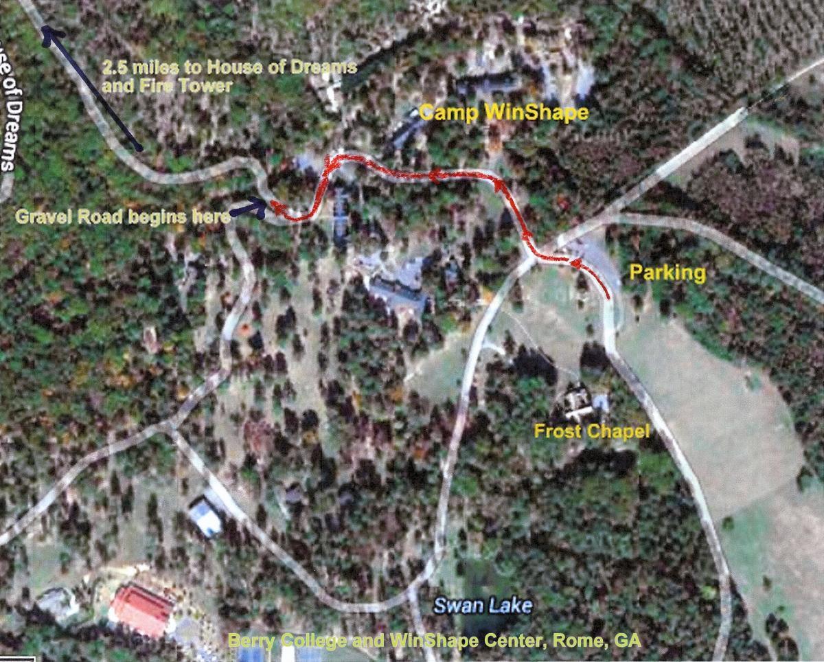 Berry College Map Berry College Mountain Bike Trail in Rome, Georgia || SINGLETRACKS.COM Berry College Map