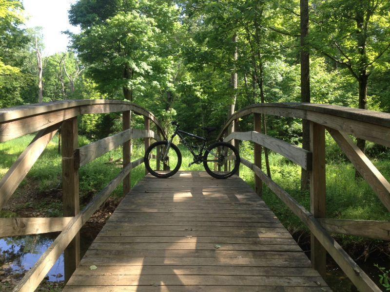 Chimney Rock Mountain Bike Trail In Martinsville New