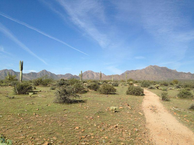 Pemberton Loop Mountain Bike Trail in Scottsdale, Arizona