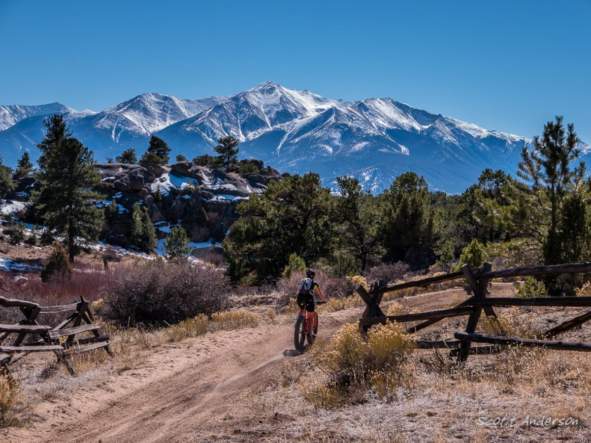Spanish Mill Area Mountain Bike Trail In Buena Vista
