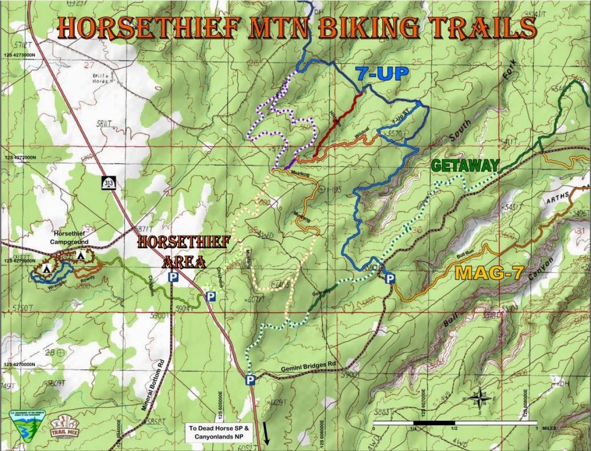 Horsethief Campground Mountain Bike Trail in Moab Utah