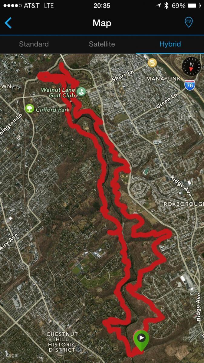 Wissahickon Valley Park Mountain Bike Trail In