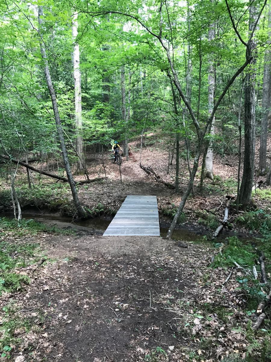 Motts Run Reservoir Mountain Bike Trail In Fredericksburg